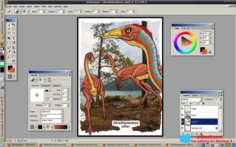 Posnetek zaslona Artweaver Windows 8