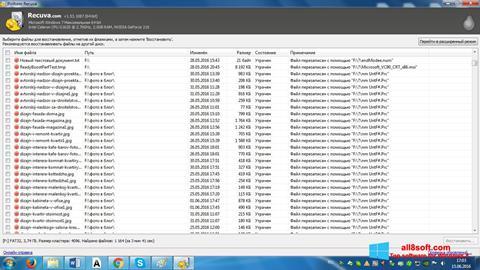 Posnetek zaslona Recuva Windows 8