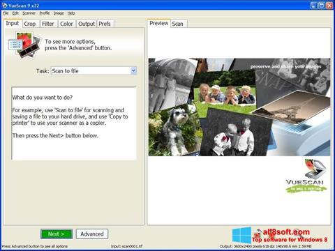 Posnetek zaslona VueScan Windows 8