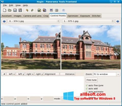 Posnetek zaslona Hugin Windows 8