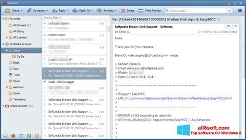 Posnetek zaslona FoxMail Windows 8