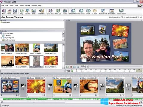 Posnetek zaslona ProShow Gold Windows 8
