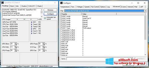 Posnetek zaslona SpeedFan Windows 8