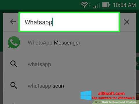 Posnetek zaslona WhatsApp Windows 8