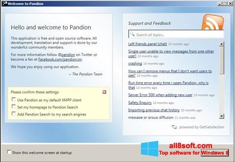Posnetek zaslona Pandion Windows 8