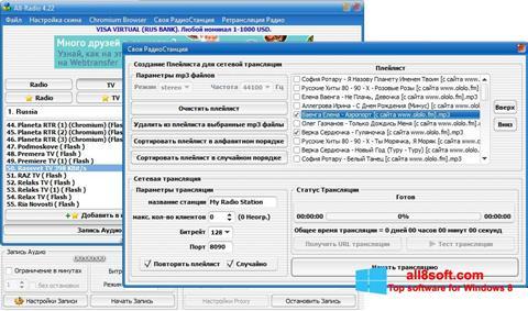 Posnetek zaslona All-Radio Windows 8
