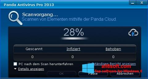 Posnetek zaslona Panda Antivirus Pro Windows 8
