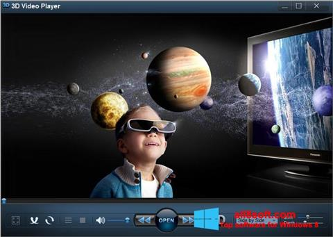 Posnetek zaslona 3D Video Player Windows 8