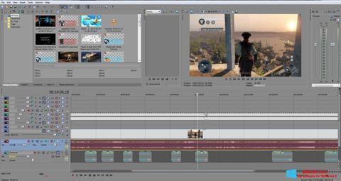 Posnetek zaslona Sony Vegas Pro Windows 8