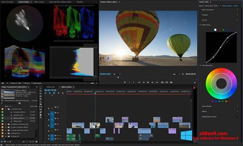 Posnetek zaslona Adobe Premiere Pro Windows 8
