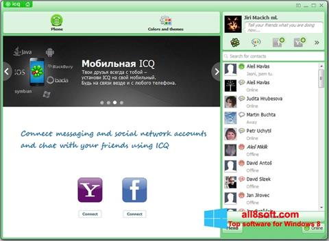 Posnetek zaslona ICQ Windows 8