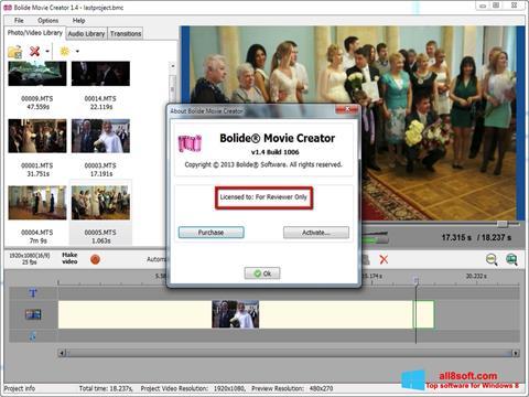 Posnetek zaslona Bolide Movie Creator Windows 8