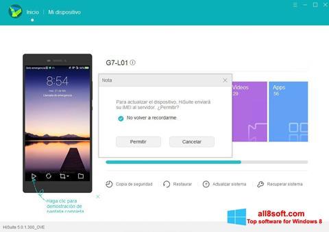 Posnetek zaslona Huawei HiSuite Windows 8