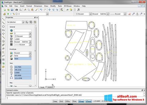 Posnetek zaslona DraftSight Windows 8