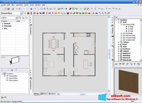Posnetek zaslona FloorPlan 3D Windows 8