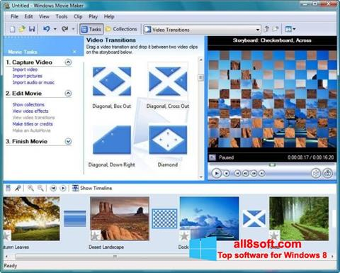 Posnetek zaslona Windows Movie Maker Windows 8