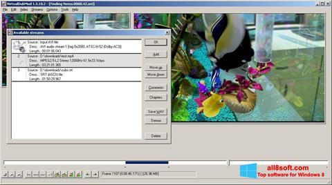 Posnetek zaslona VirtualDubMod Windows 8