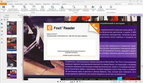 Posnetek zaslona Foxit Reader Windows 8