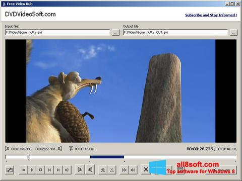 Posnetek zaslona Free Video Dub Windows 8