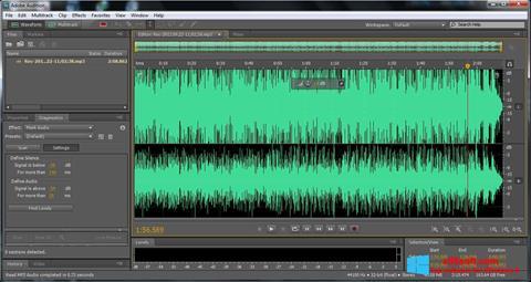 Posnetek zaslona Adobe Audition Windows 8