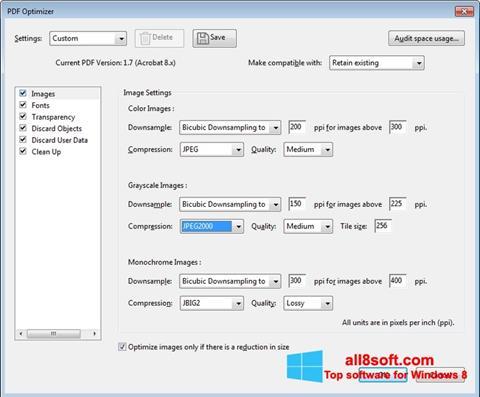 Posnetek zaslona Adobe Acrobat Pro DC Windows 8