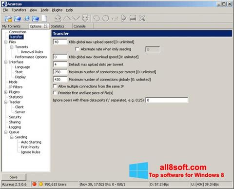 Posnetek zaslona Vuze Windows 8