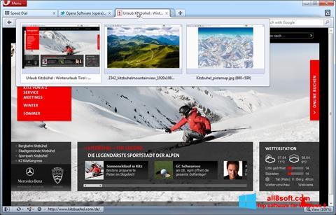 Posnetek zaslona Opera Windows 8