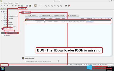 Posnetek zaslona JDownloader Windows 8
