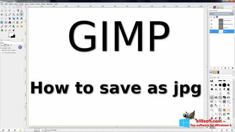 Posnetek zaslona GIMP Windows 8