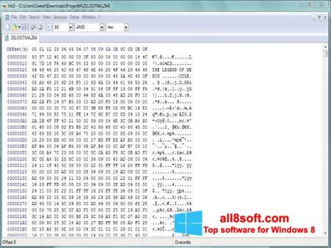 Posnetek zaslona HxD Hex Editor Windows 8