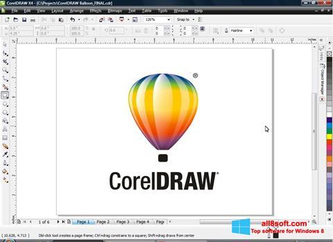 Posnetek zaslona CorelDRAW Windows 8