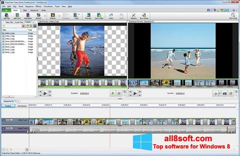 Posnetek zaslona VideoPad Video Editor Windows 8