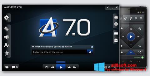 Posnetek zaslona ALLPlayer Windows 8
