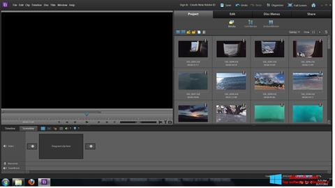 Posnetek zaslona Adobe Premiere Elements Windows 8