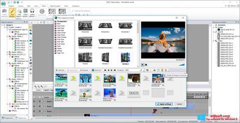 Posnetek zaslona VSDC Free Video Editor Windows 8