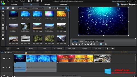 Posnetek zaslona CyberLink PowerDirector Windows 8