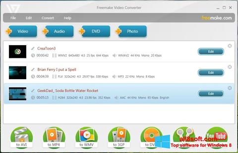 Posnetek zaslona Freemake Video Converter Windows 8