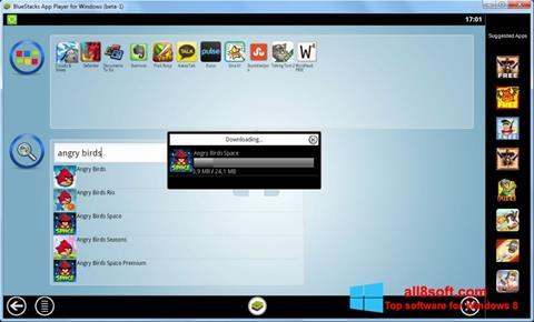 Posnetek zaslona BlueStacks Windows 8