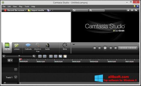 Posnetek zaslona Camtasia Studio Windows 8
