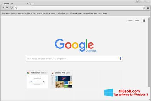 Posnetek zaslona Google Chrome Windows 8