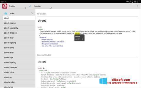 Posnetek zaslona ABBYY Lingvo Windows 8
