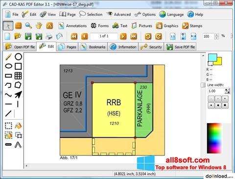 Posnetek zaslona PDF Reader Windows 8