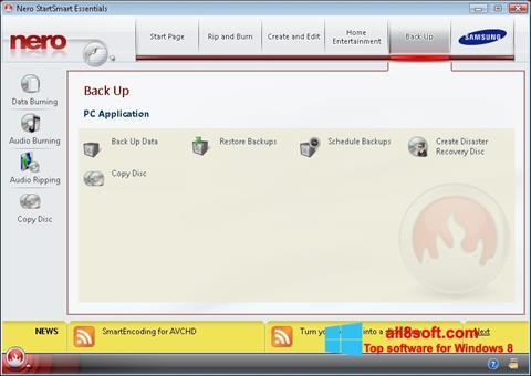 Posnetek zaslona Nero Windows 8