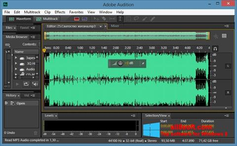 Posnetek zaslona Adobe Audition CC Windows 8