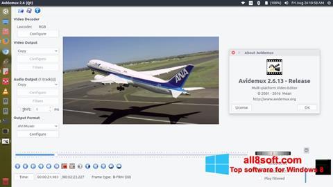 Posnetek zaslona Avidemux Windows 8